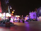Disney Village at night.