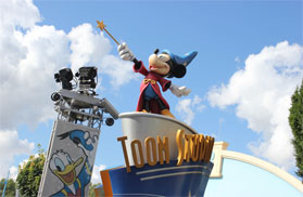 Sorcerer Mickey on Toon Studio sign