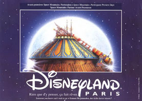 Space Mountain Visual, Disneyland Paris logo