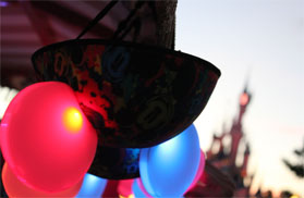 Light Ears in front of the castle