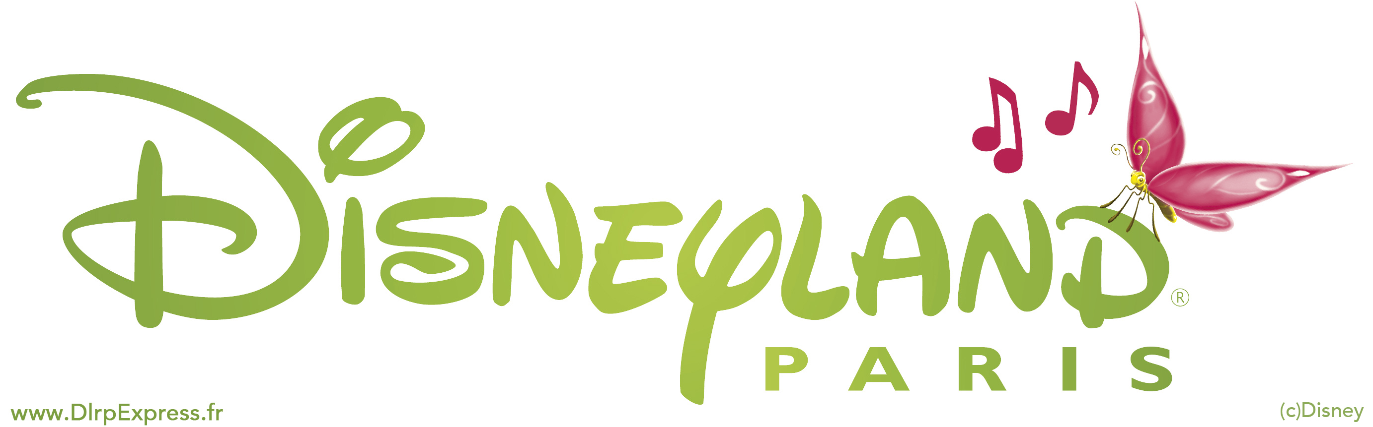 Disneyland Paris logo with butterflies