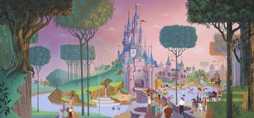 Castle art from Disneyland Paris' Disney art on demand