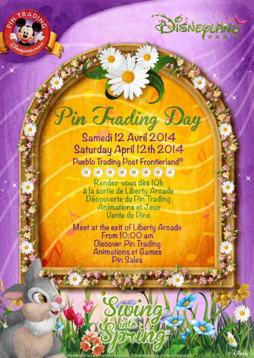 Pin Trading Day Poster April 2014