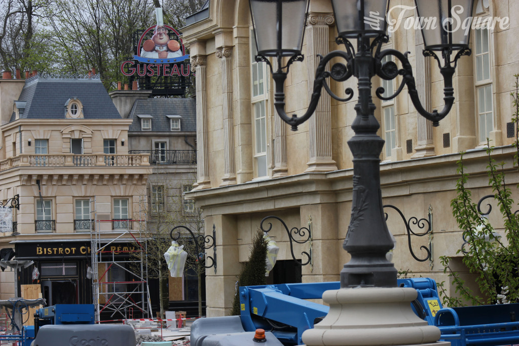 Construction works on Disneyland Paris Ratatouille area.