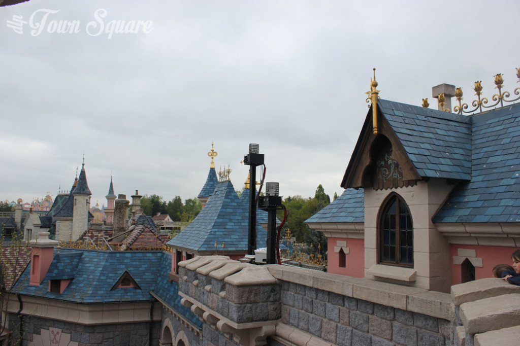 Tech installations on Disneyland Paris' castle.