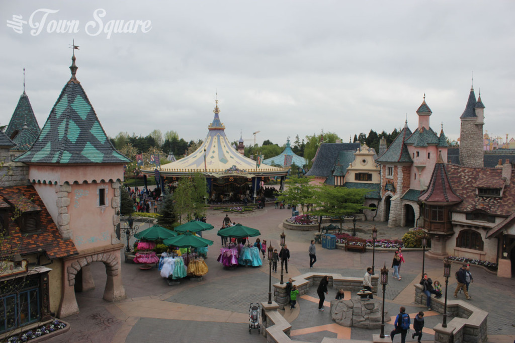 Fantasyland as seen from Sleeping Beauty Castle, Disneyland Paris