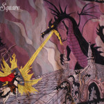 Tapestry Philip battling Dragon Maleficent, Disneyland Paris Castle