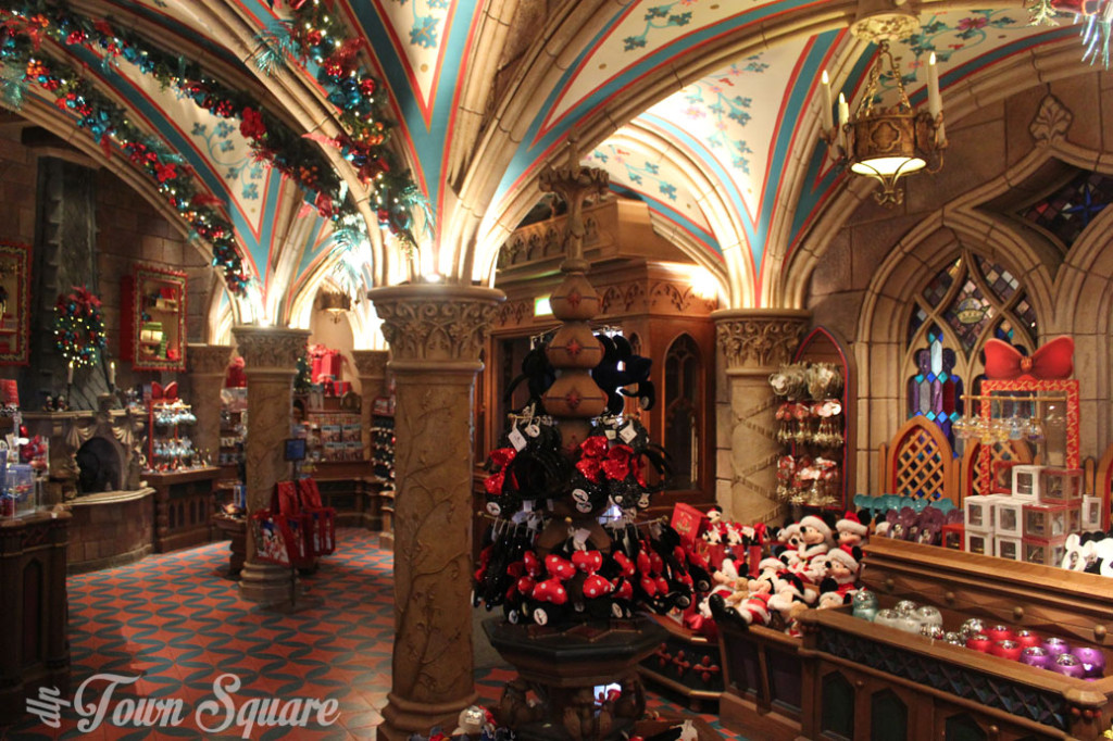 Christmas Shop inside Disneyland Paris' castle