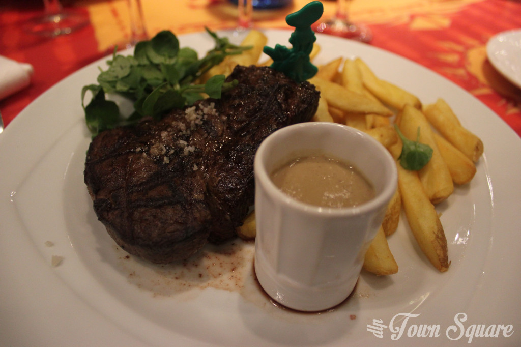 Steak and Chips at the Bistrot Chez Rémy at Disneyland Paris