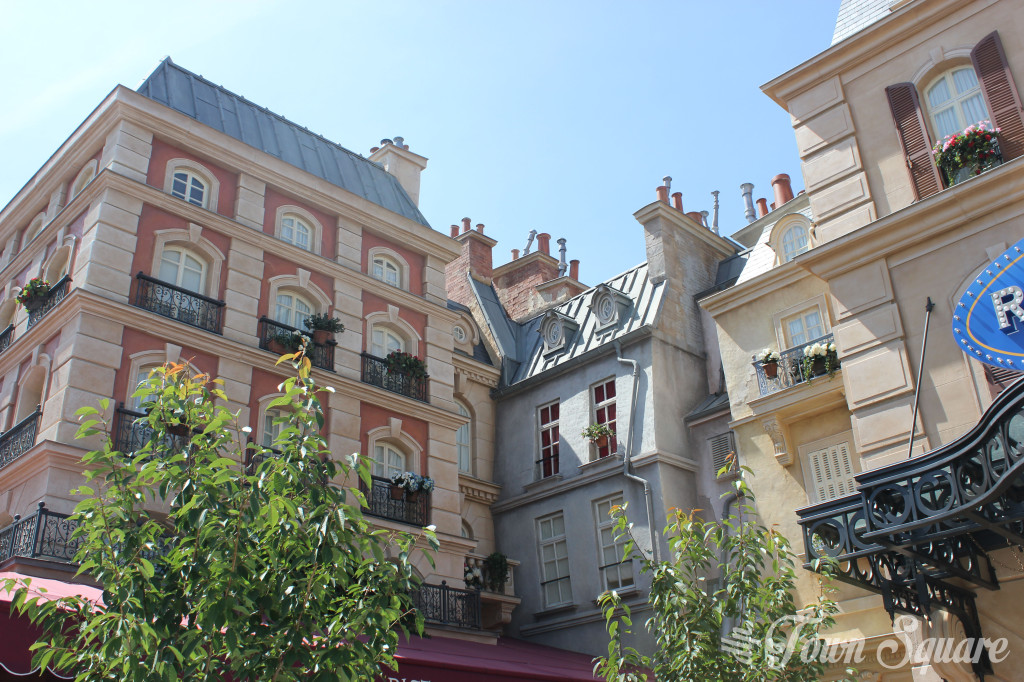 Haussmann Architecture in La Place de Rémy at Disneyland Paris