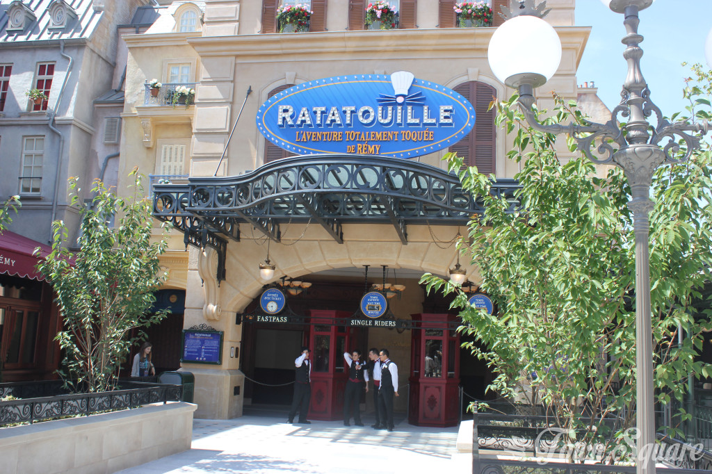 Entrance Arch to Ratatouille at Disneyland Paris