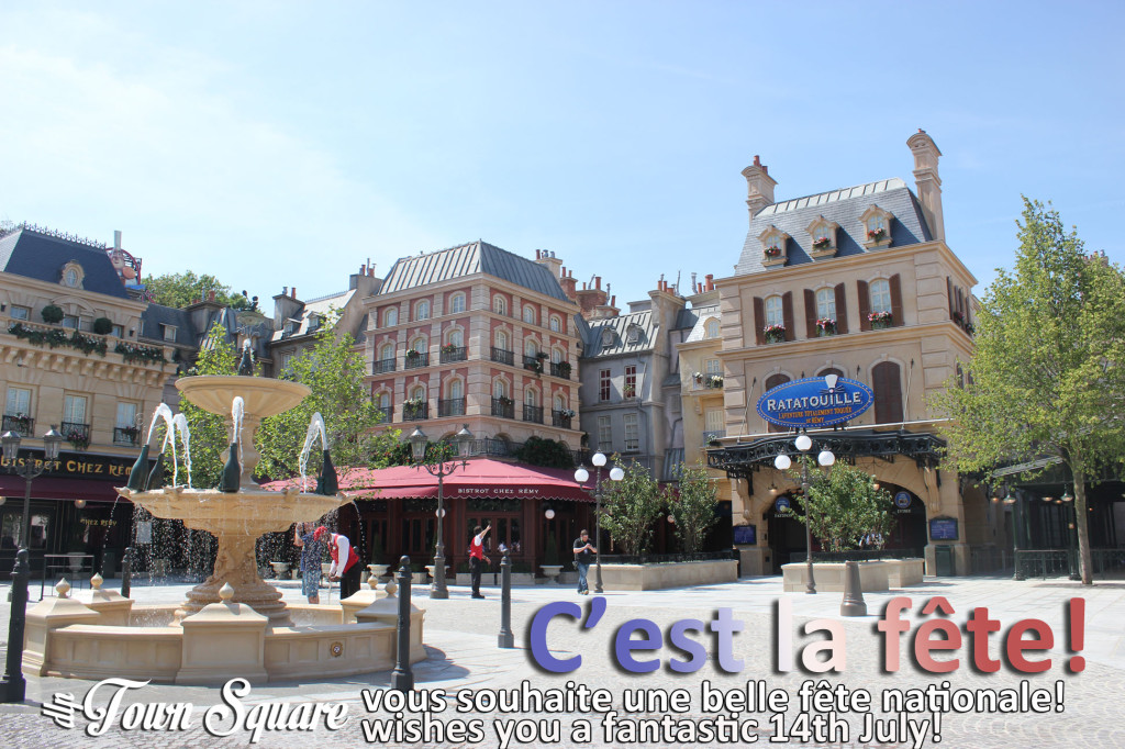 La Place de Remy with a 14th July greeting