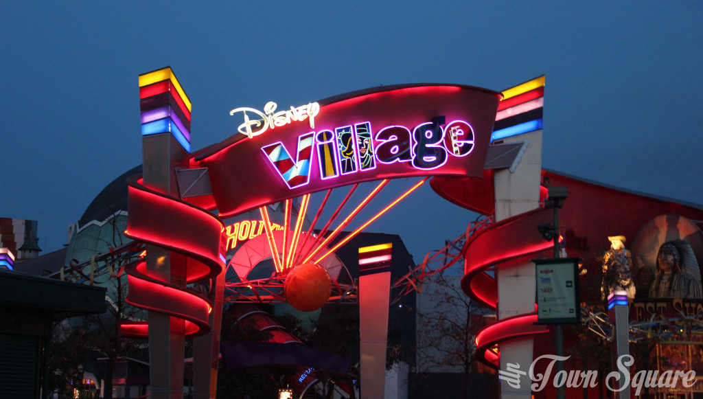 Disney Village Sign at Disneyland Paris