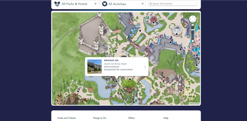 New Disneyland Paris Website Maps