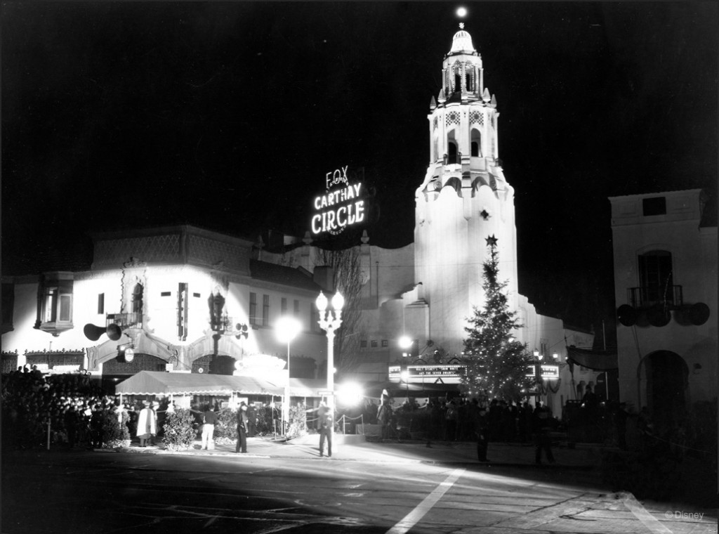Carthay Circle Theatre. Snow White premiere: December 21 1937. Image: Disney