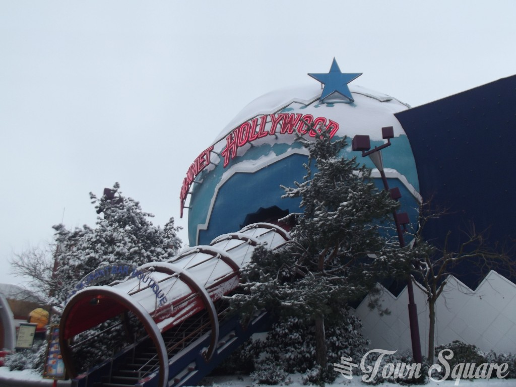 Planet Hollywood at Disneyland Paris in the snow