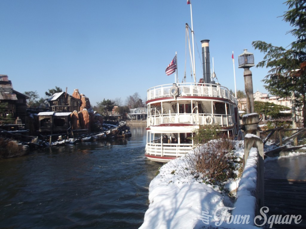 Molly Brown at Disneyland Paris in the Snow