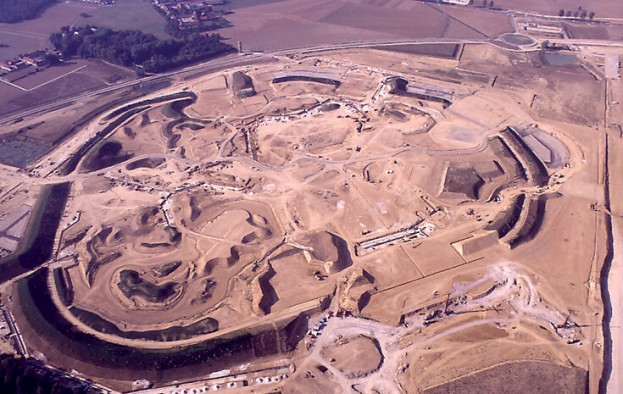 The Disneyland Paris construction site in 1988.