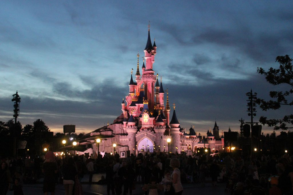 The castle in Disneyland Paris is given a French name