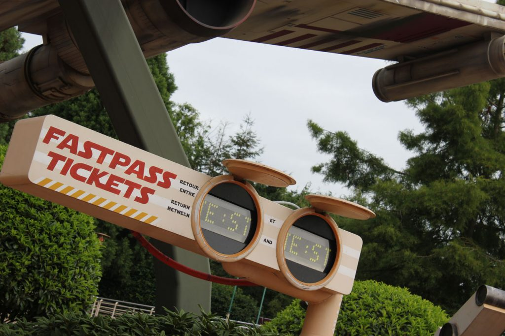 Fastpass entrance at Star Tours in Disneyland Paris