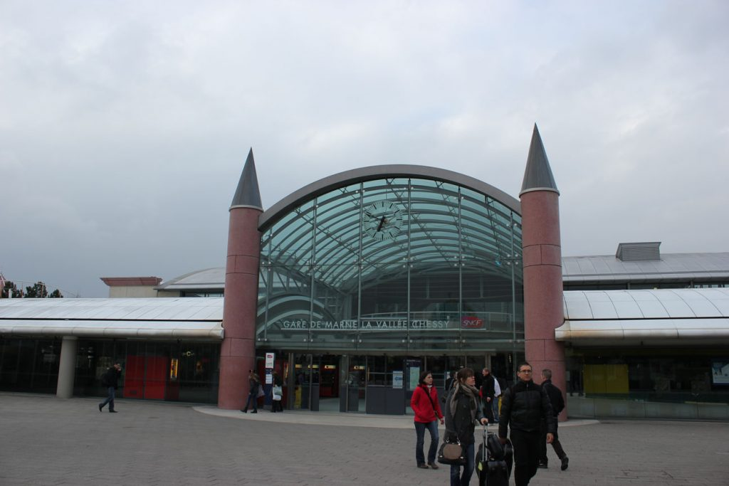 The Disneyland Paris train station was to be no more than 150m from the park entrance.