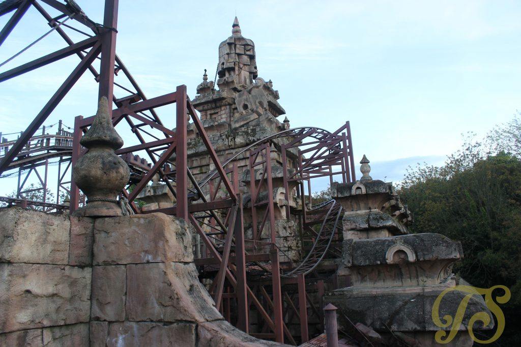 The Indiana Jones ride at Disneyland Paris