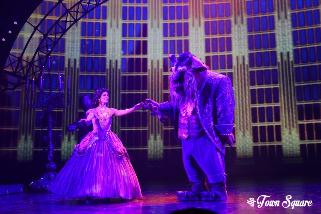 Belle and the Beast in Mickey and the Magician
