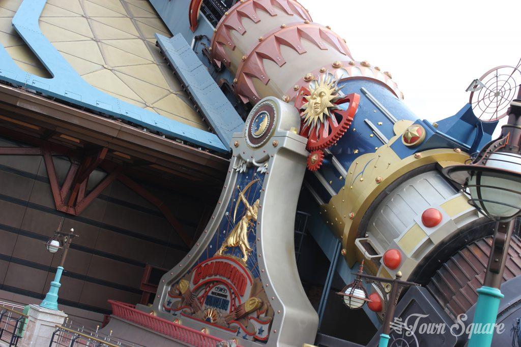 Space Mountain's Columbiad cannon at Disneyland Paris