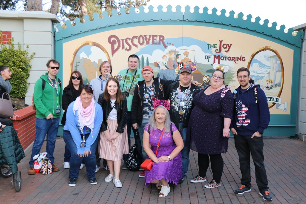 Group photo on Main Street