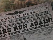 The newspaper handed out to the first to ride Big Thunder Mountain