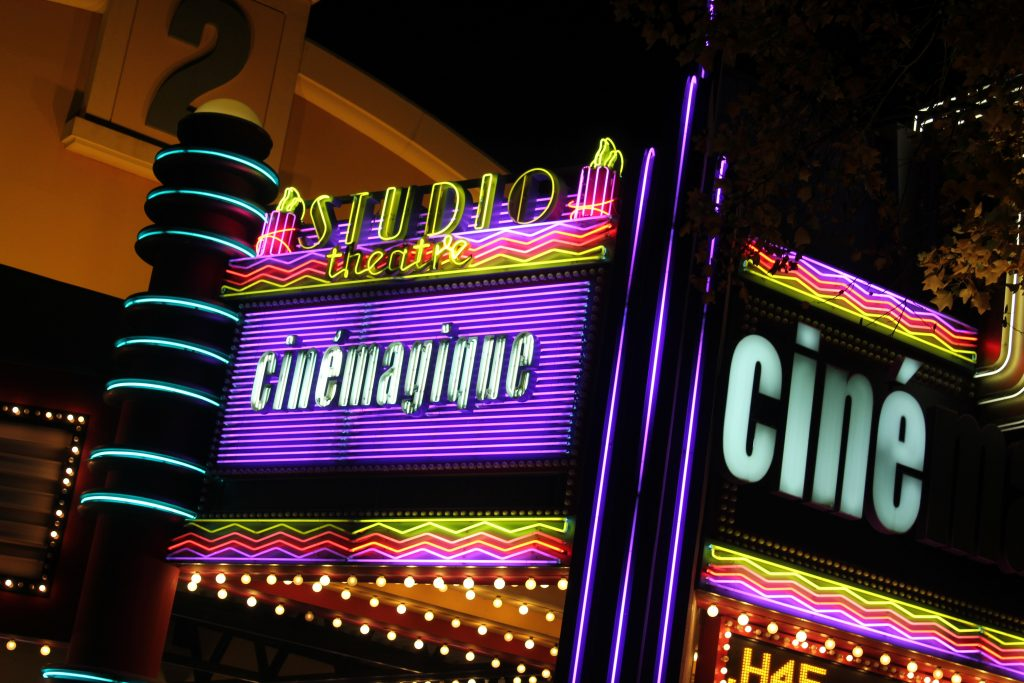 Cinémagique at Walt Disney Studios park at night