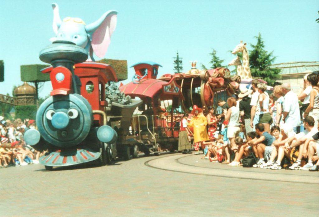 Casey Jr in the Wonderful World of Disney Parade