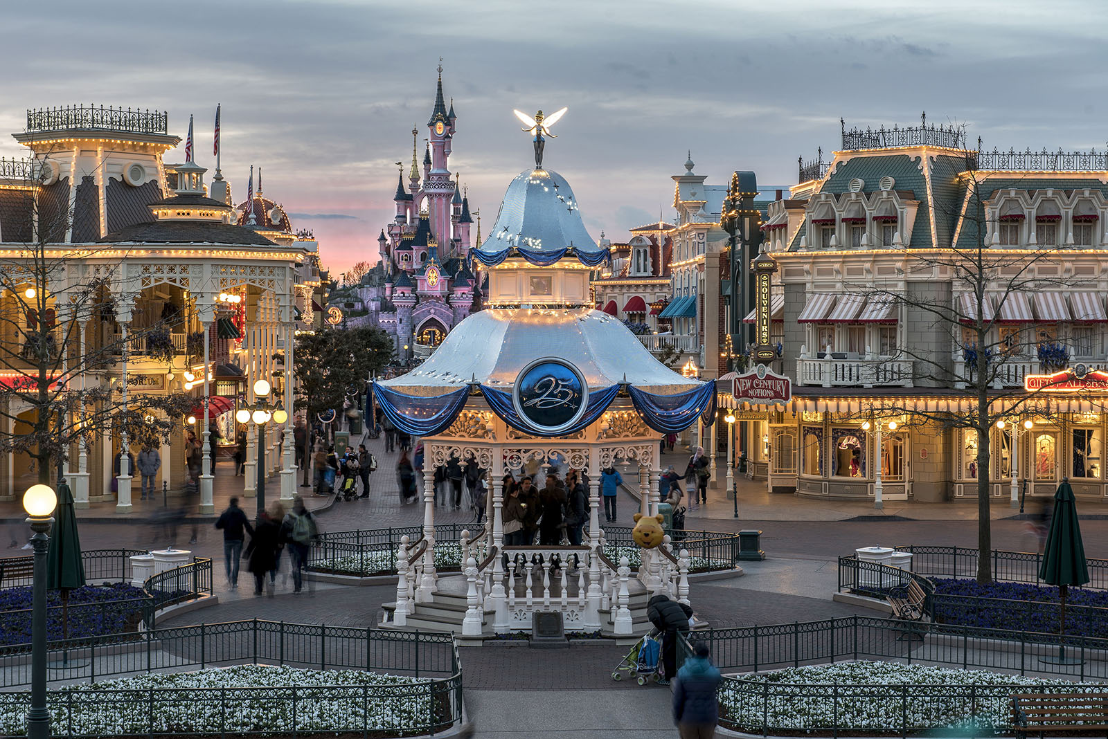 Main Street at Disneyland Paris 25th anniversary
