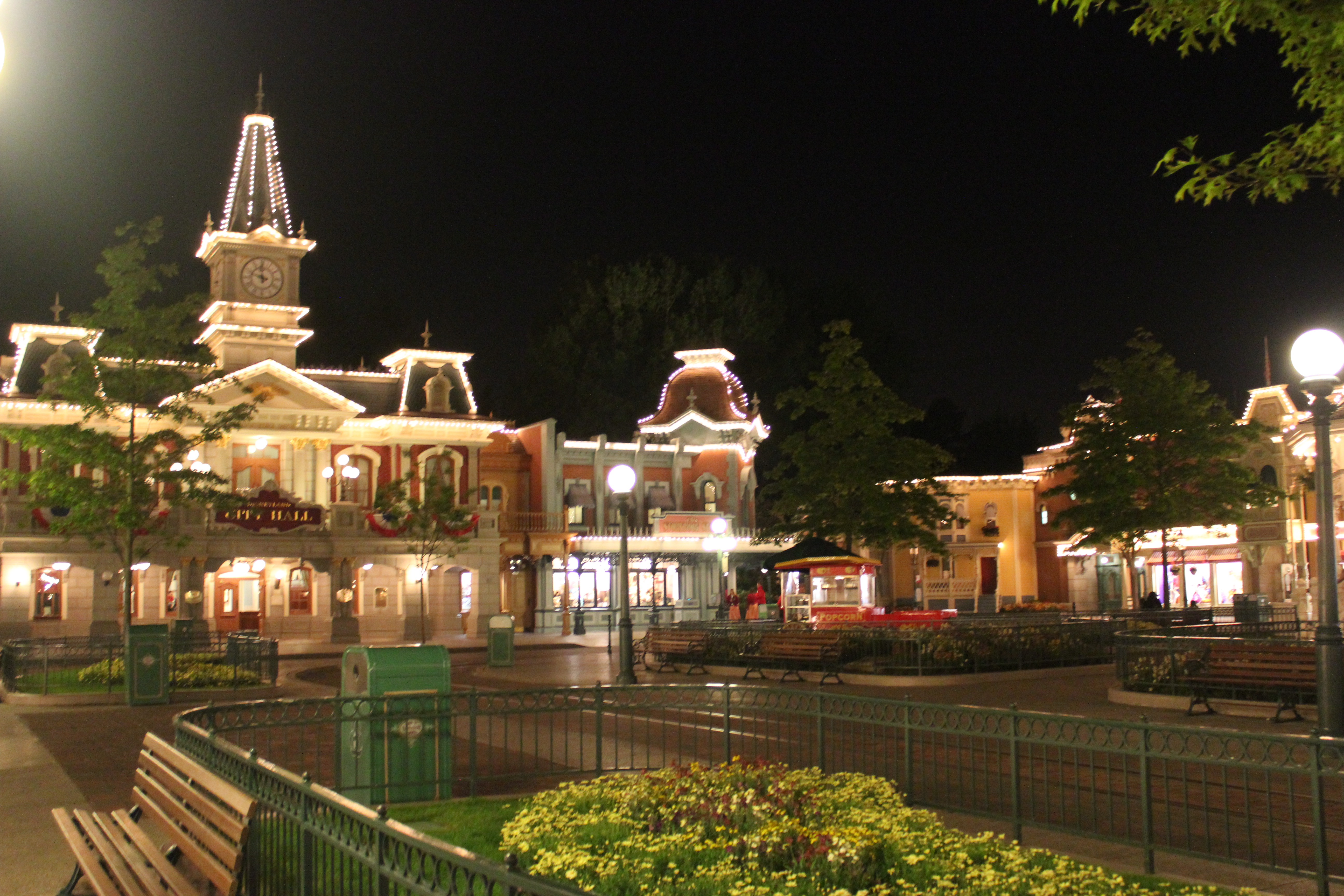 City Hall in Town Square at night