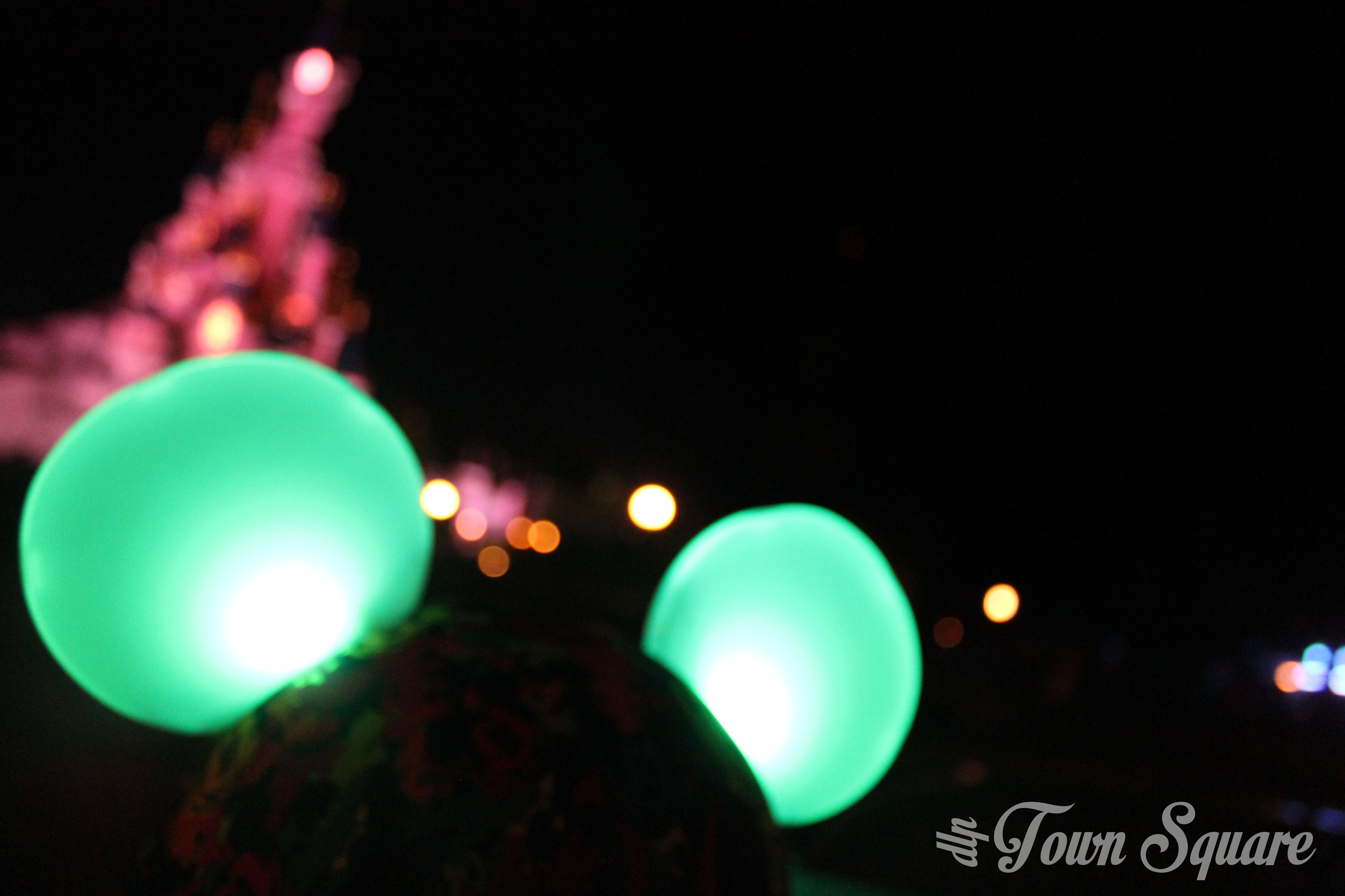 Light'Ears in front of the castle at night