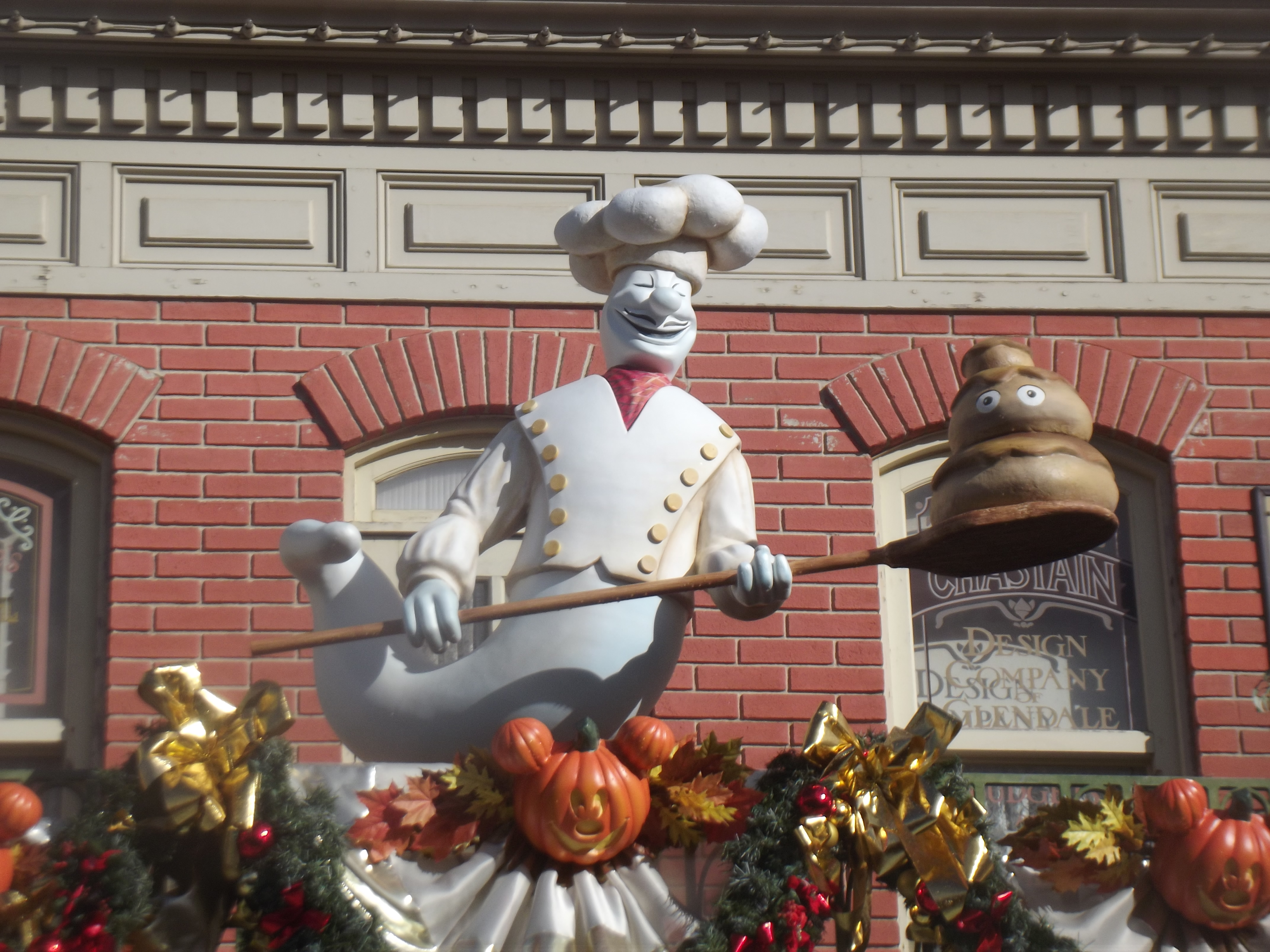 Chef ghost outside Market House Deli