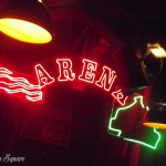 Red sign for Arena entrance at the Buffalo Bill Wild West Show