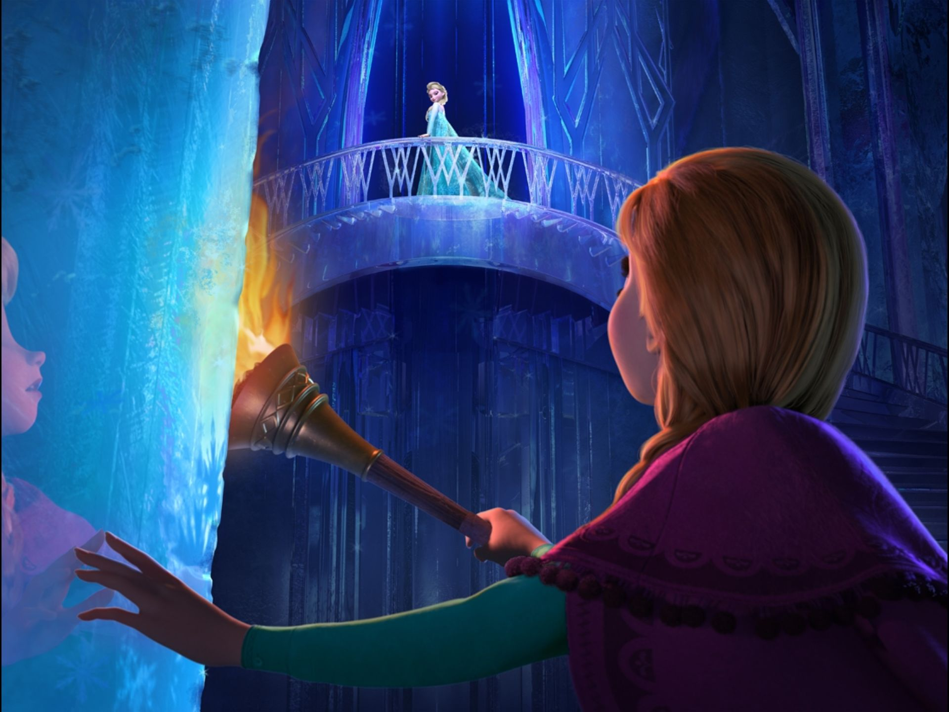 Anna in Elsa's ice castle - Still from 'Frozen'