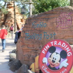 Pin Trading logo outside the Pueblo Trading Post