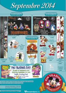Disneyland Paris Pins September 2014