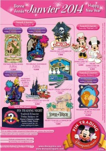 Pin Poster Jaunary 2014 Disneyland Paris