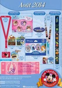 Disneyland Paris Pins August 2014