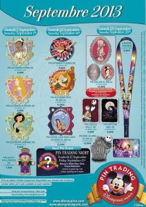 September 2013 Pins Disneyland Paris