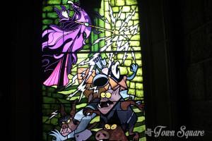 Maleficient and her Goons Window, Disneyland Paris Castle