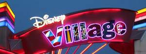 Disney Village sign at Disneyland Paris