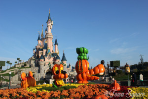 Central Plaza at Disneyland Paris during Halloween