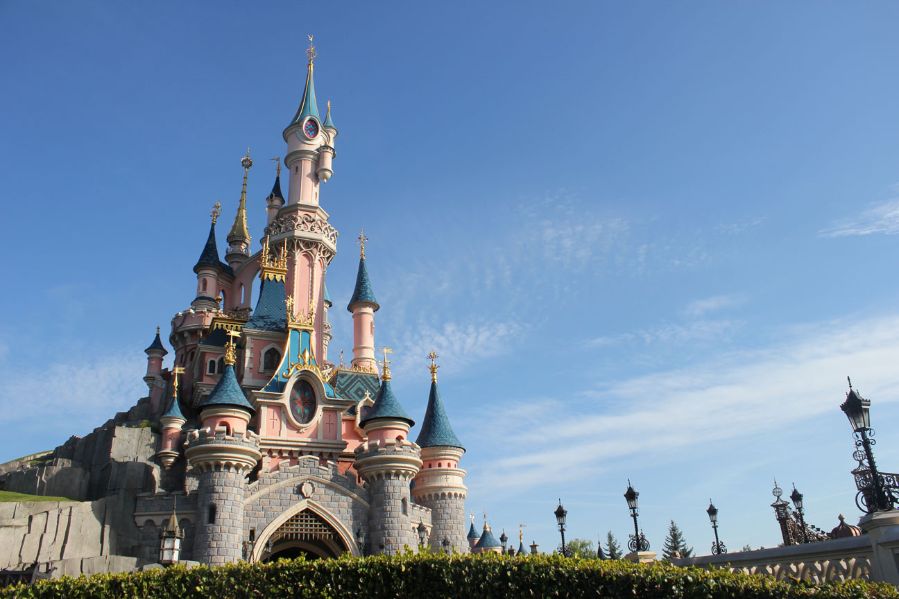 The Sleeping Beauty castle at Disneyland Paris