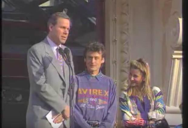 Michael Eisner at Euro Disneyland Opening