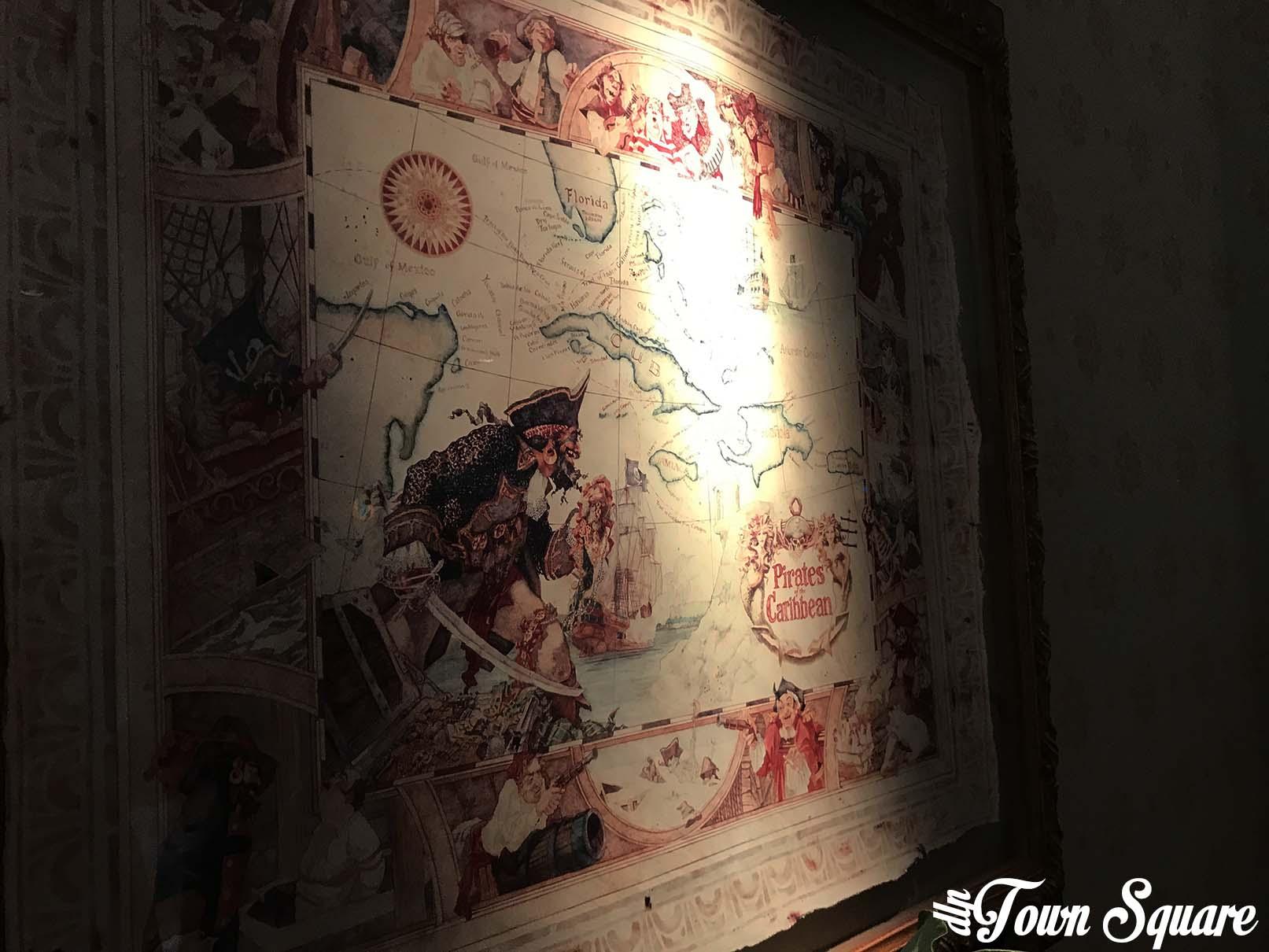 Pirates of the Caribbean concept art in the Disneyland Hotel at Disneyland Paris