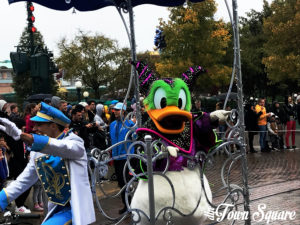 Donald as Maleficent at Mickey's Halloween Tricycle Gang